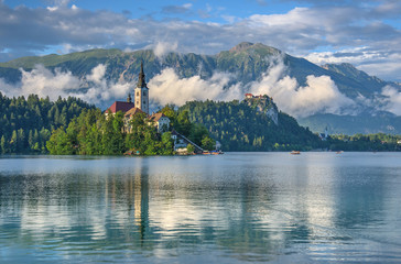 Lake Bled after raining
