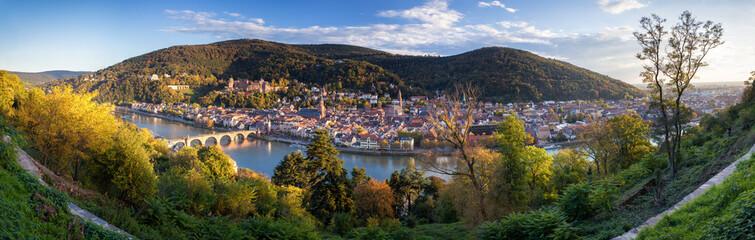 Blick vom Philosophenweg in Heidelberg