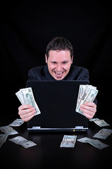 Businessman is earned the money