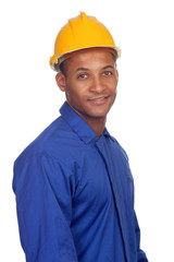 Worker construction with helmet