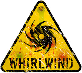 whirlwind warning sign, gungy vector eps 10