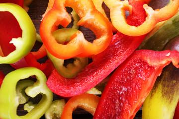 Sliced pepper as background