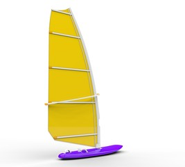 Windsurf board - yellow sail