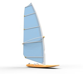 Windsurf board - light blue sail