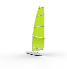 Green windsurf board
