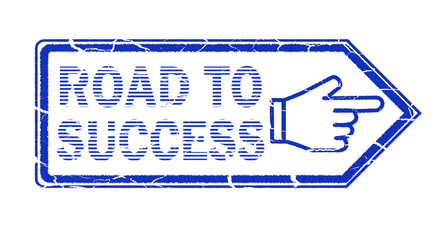 road to success stamp on white background