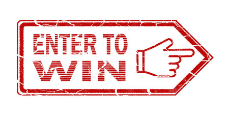 enter to win stamp on white background