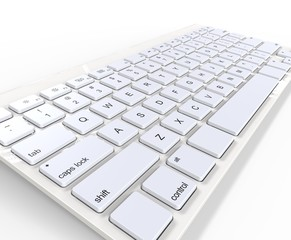 White keyboard - close up