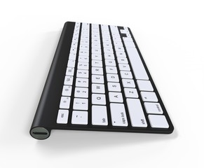 Modern black keyboard - usb side