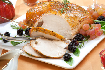 Roasted Turkey Breast - Rosemary-Basil Rub