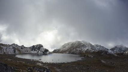 Lake cloudscape time lapse