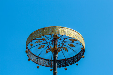 Golden tiered umbrella in Thai temple