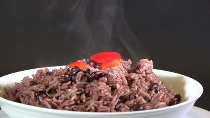 Plate of Congri Rice a typical Cuban dish