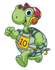 Sport Running Turtle Funny Cartoon