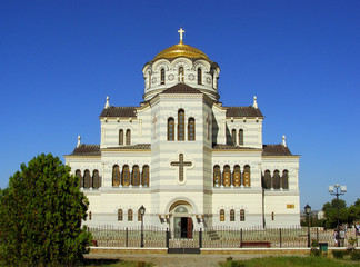 Saint Vladimir Cathedral in Chersonesus Taurica, Sevastopol, Cri