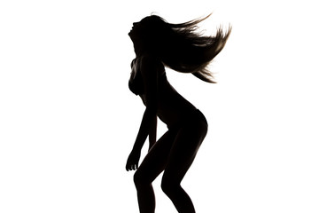 Image of silhouette sexy dancing girl