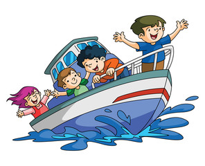 Kids Holiday boat
