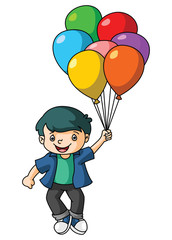Boy Play Balloon