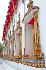 Beautiful Thai style church windows