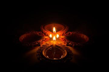 Beautiful Diwali Candels