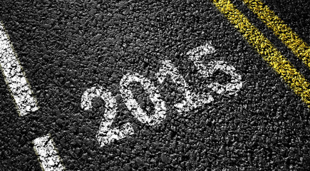 2015 year on the asphalt road