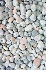 white stones and pebble background
