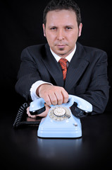 Businessman is waiting for Important call