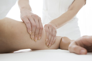 Massage relax the muscles of the arm