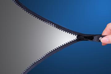 Open zip to show your texture inside
