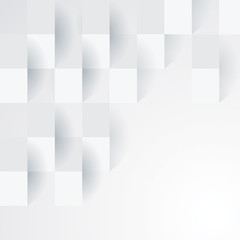 White geometric texture. Vector background.