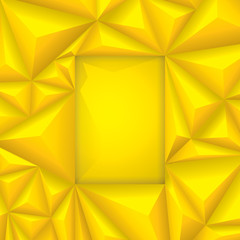 Yellow vector geometric background.