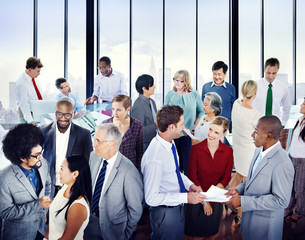 Multiethnic Group of Business People in the Office