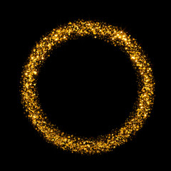 gold round glitter background