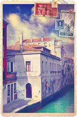 Vintage Venice city postcard
