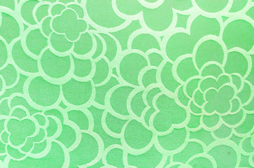 Abstract green circle fabric texture and background
