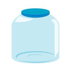Empty glass jar vector