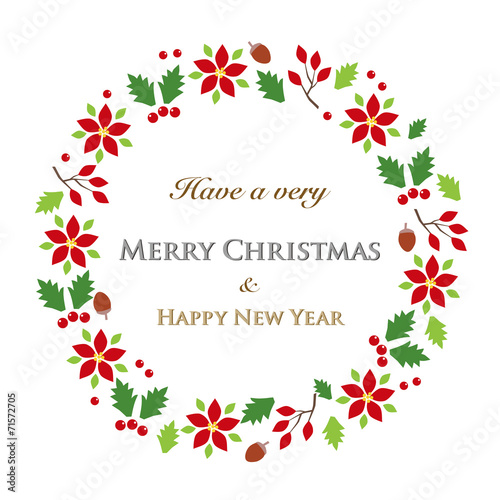 クリスマスリース - 71572705