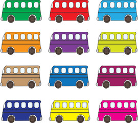multicolor bus pattern