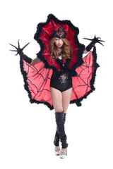 Sexy girl posing in devil costume for Halloween