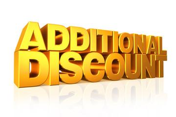 3D gold text additional discount.