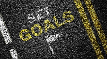 set goals on the asphalt road
