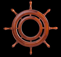Frame for the image in the form of the ship's steering wheel.