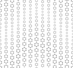 Wavy seamless pattern composed of abstract elements