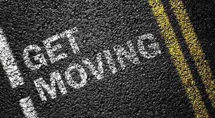 get moving on the asphalt road