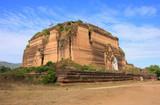 Remains of incomplete stupa Mingun Pahtodawgyi, Mandalay, Myanma poster