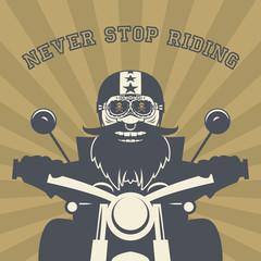 Biker, , vector illustration