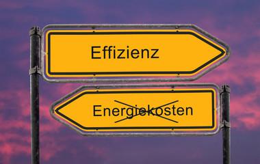 Strassenschild 22- Effizienz