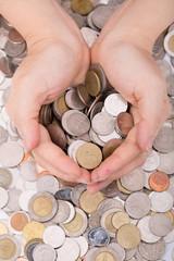 Women deposit money