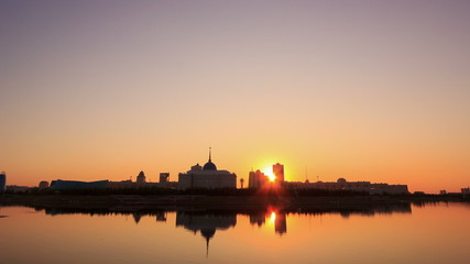 Presidential Palace on the waterfront. Astana, Kazakhstan