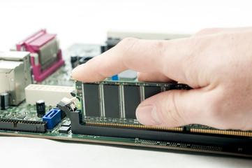 Installing RAM on PC motherboard